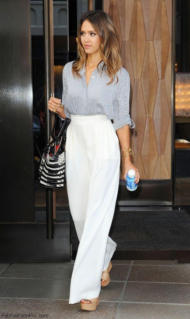 chemise-de-ville-grise-pantalon-large-blanc-sandales-compensees-beiges-original-10195