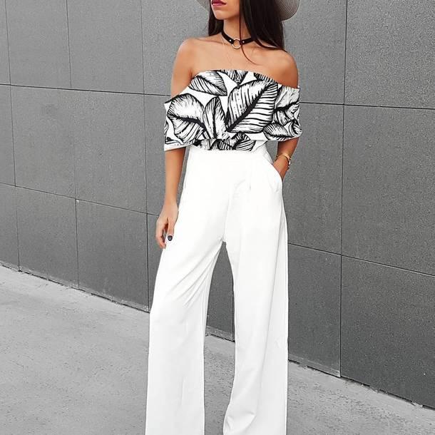 heitz5-l-610x610-pants-black+choker-tumblr-white+pants-wide+leg+pants--shoulder-shoulder-printed-spring+outfits-choker+nec
