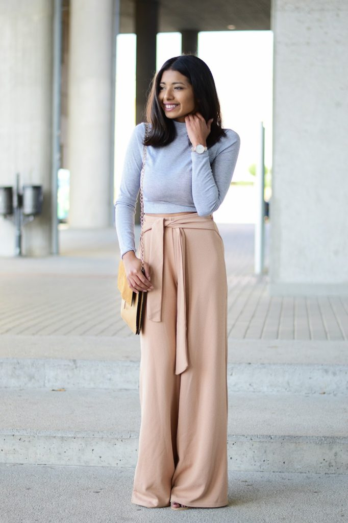 how to style crop top outfits in spring